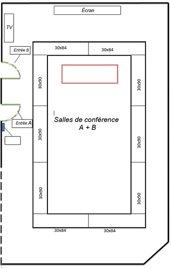 Layout of Conference rooms A & B