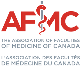 AFMC logo with tablet in the background