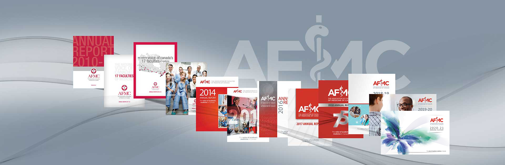 screenshot of Annual report covers