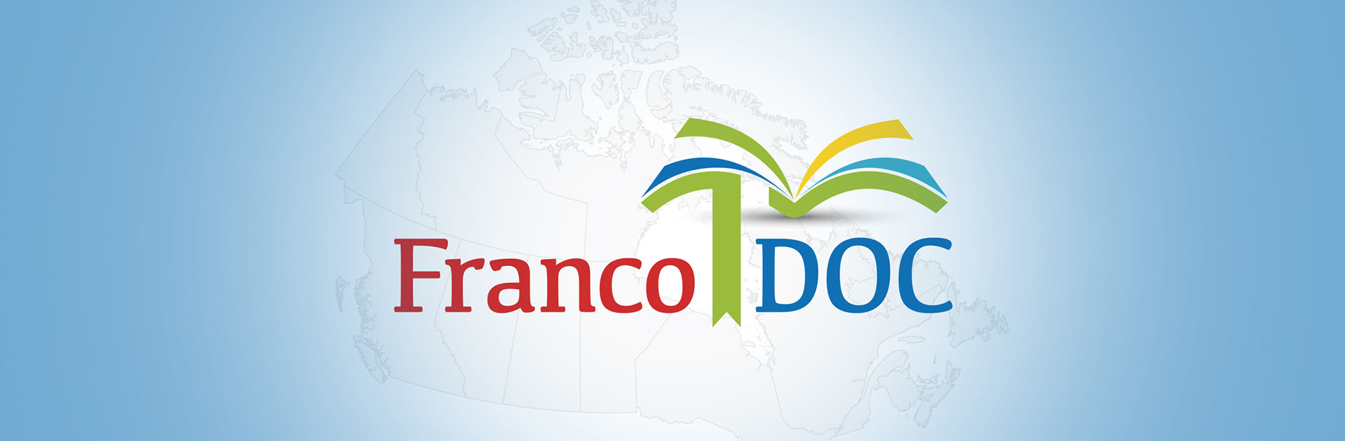 map of Canada with FrancoDoc logo on top
