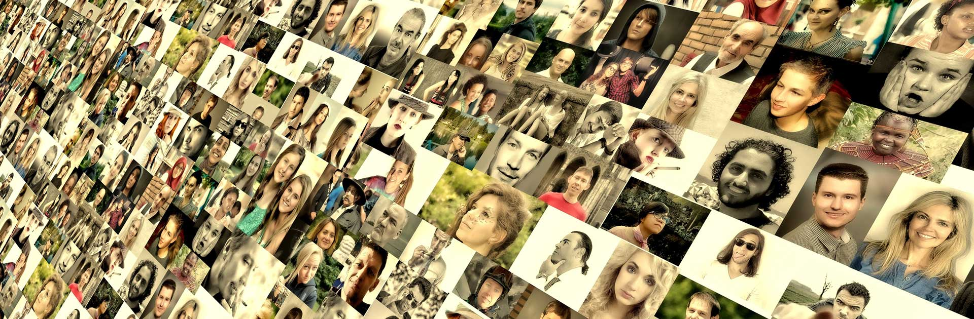large canvas of collage of people